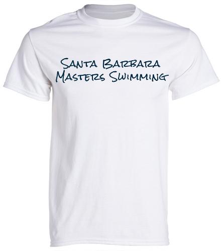 SBMS White Navy - SwimOutlet Unisex Cotton Crew Neck T-Shirt