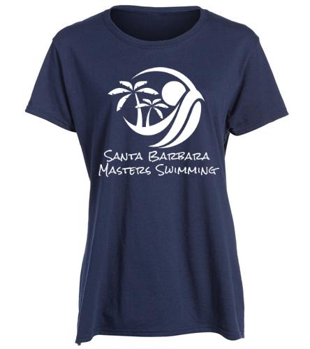 SBMS Navy - SwimOutlet Women's Cotton Missy Fit T-Shirt