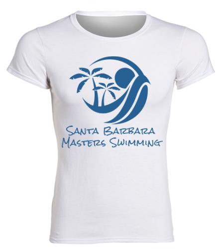 SBMS White - SwimOutlet Women's Cotton Missy Fit T-Shirt