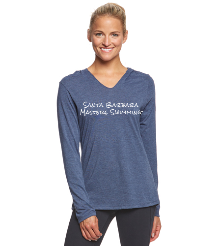 SBMS Navy - SwimOutlet Women's Perfect Long Sleeve Hoodie