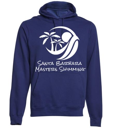 SBMS Navy - SwimOutlet Adult Fan Favorite Fleece Pullover Hooded Sweatshirt