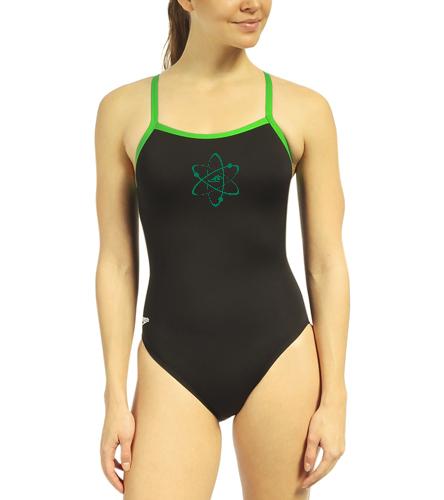 Aquatomics Womens Training Suit - Speedo Women's Solid Endurance + Flyback Training One Piece Swimsuit