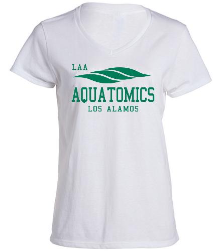 Aquatomics Ladies V-neck T - SwimOutlet Women's Cotton V-Neck T-Shirt