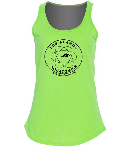 Aquatomics Ladies Tank - SwimOutlet Women's Cotton Tank Top - Brights
