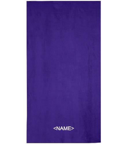 DSS PURPLE TOWEL - Royal Comfort Terry Velour Beach Towel 32 X 64