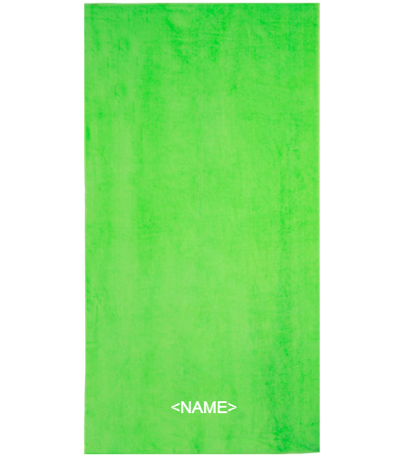 DSS GREEN TOWEL - Royal Comfort Terry Velour Beach Towel 32 X 64