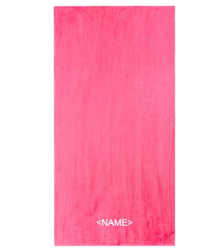 DSS PINK TOWEL - Diplomat Terry Velour Beach Towel 30 x 60