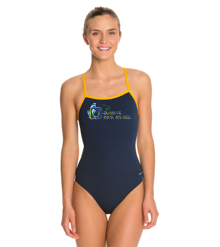 DSS SWAG - Sporti Poly Pro Piped Thin Strap One Piece Swimsuit