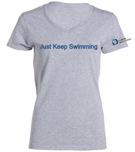 DSS JKS SWAG - SwimOutlet Women's Cotton V-Neck T-Shirt
