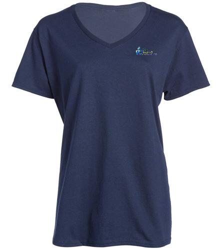 DSSSOLID  SWAG - SwimOutlet Women's Cotton V-Neck T-Shirt