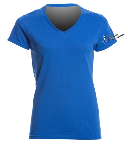 DSS ARM SWAG - SwimOutlet Women's Cotton V-Neck T-Shirt