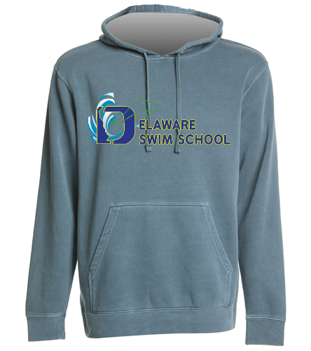 DSS BLUE SWAG - SwimOutlet Unisex Midweight Pigment Dyed Hooded Sweatshirt