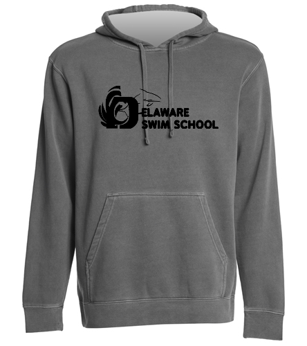 DSS SOLID BLACK SWAG - SwimOutlet Unisex Midweight Pigment Dyed Hooded Sweatshirt