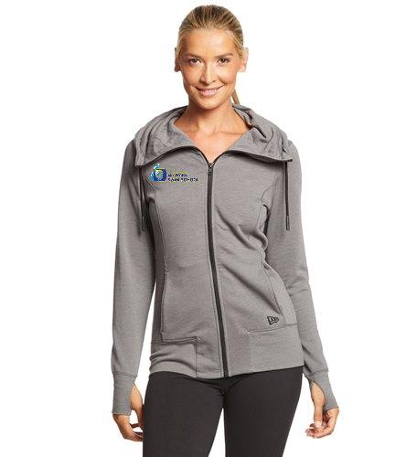 DSS Zip-up - SwimOutlet New Era® Women's Tri-Blend Fleece Full-Zip Hoodie