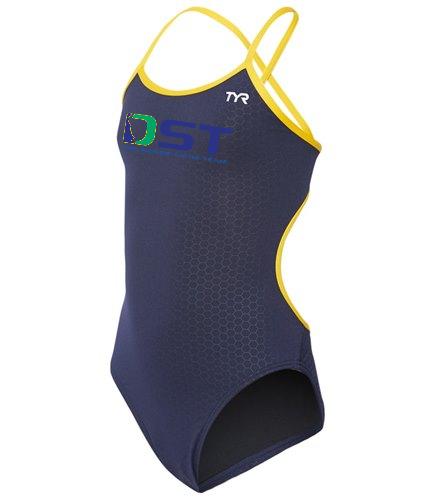 DST CUSTOM - TYR Girls' Hexa Trinityfit One Piece Swimsuit