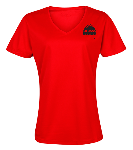 Red Womens VNeck MHA Tee - SwimOutlet Women's Cotton V-Neck T-Shirt