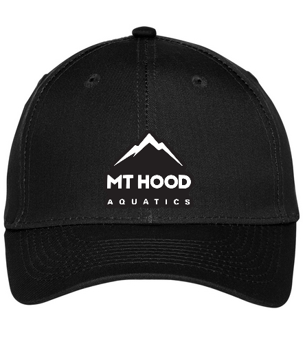 Black MHA Hat - SwimOutlet Unisex Performance Twill Cap