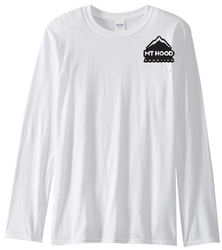 White LS Unisex MHA Cotton Tee - SwimOutlet Cotton Unisex Long Sleeve T-Shirt