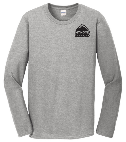 Grey LS Unisex MHA Tee - SwimOutlet Cotton Unisex Long Sleeve T-Shirt