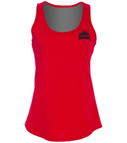 Red Womens MHA Tank - SwimOutlet Women's Cotton Racerback Tank Top
