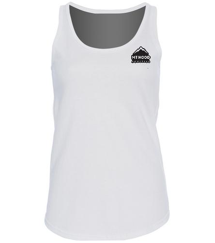 White MHA Womens Tank - SwimOutlet Women's Cotton Racerback Tank Top