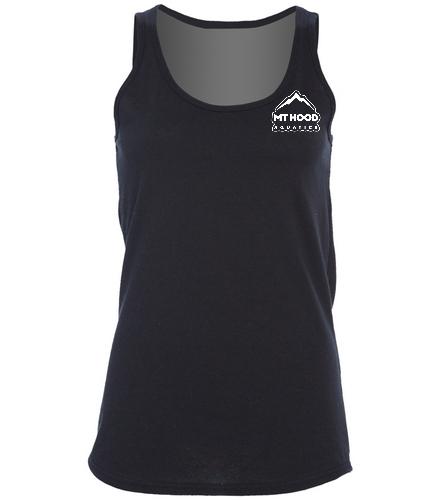 Black MHA Womens Tank - SwimOutlet Women's Cotton Racerback Tank Top
