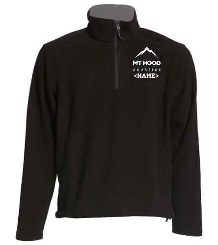 Black LS MHA 1/4 zip Fleece - SwimOutlet Adult Unisex Fleece 1/4-Zip Pullover