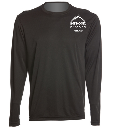 Black MHA Competition Tee (personalization) - SwimOutlet Long Sleeve PosiCharge® Competitor™ Tee