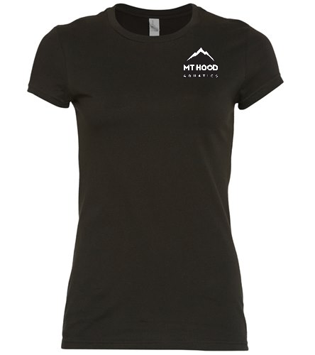 Black MHA Cap Sleeve Tee - SwimOutlet Women's District® Fitted Very Important Tee