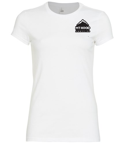 White MHA Womens Fitted Tee - SwimOutlet Women's District® Fitted Very Important Tee