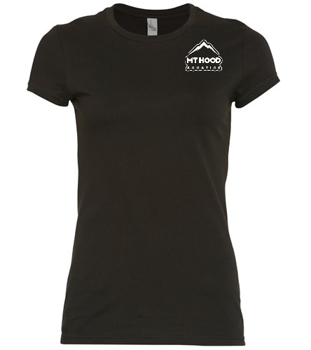 Black MHA Womens Fitted Tee - SwimOutlet Women's District® Fitted Very Important Tee