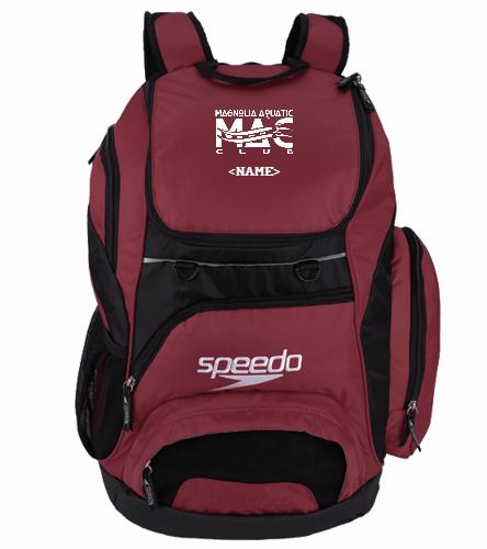 Burgundy Large MAC Backpack  - Speedo Large 35L Teamster Backpack