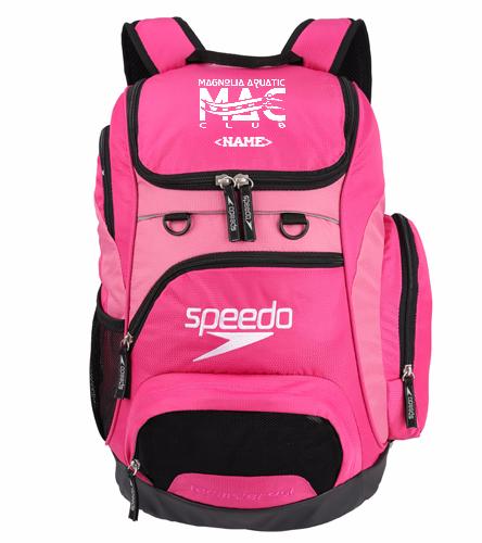 Pink MAC Backpack  - Speedo Medium 25L Teamster Backpack