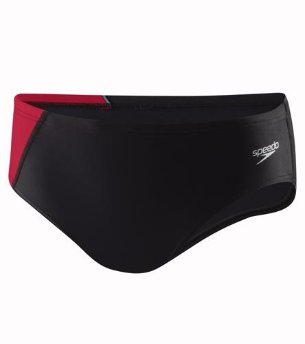 MAC Youth Brief - Speedo PowerFLEX Eco Youth Revolve Splice Brief Swimsuit