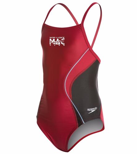 MAC Youth Suit - Speedo PowerFLEX Eco Revolve Splice Energy Back Youth Swimsuit