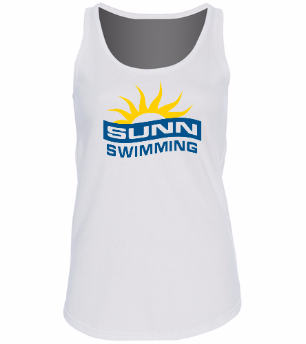 SUNN Swimming -  Ladies 5.4-oz 100% Cotton Tank Top