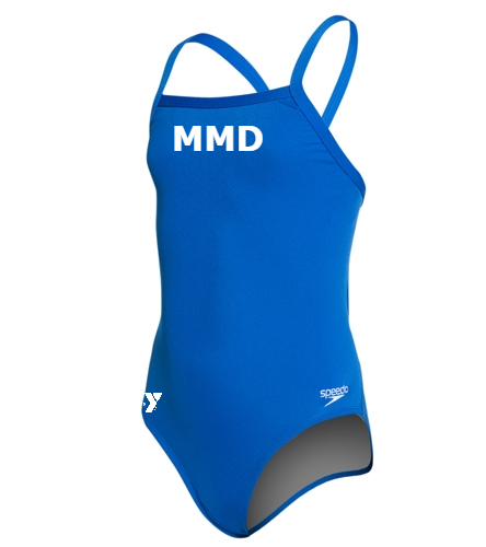 MMD Youth  - Speedo Girls' Solid Endurance + Flyback Training One Piece Swimsuit