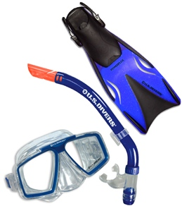 U.S. Divers Cozumel Adult Mask, Snorkel and Fin Set
