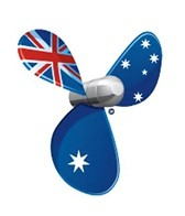 H2O-Toos Swim Tattoos Australia Speed Propeller Flag Tattoo