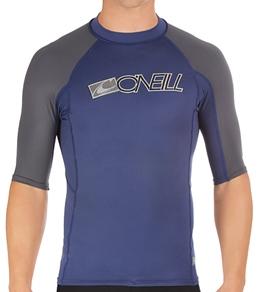 O'Neill Men's Skin S/S Crew Rashguard 6oz