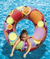 Poolmaster 48 Bright Colors Circles Inflatable  Pool Tube