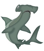 H2O-Toos Swim Tattoos Hammerhead