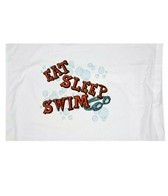 1Line Sports Eat Sleep Swim Pillow Case
