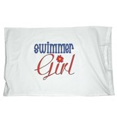 1Line Sports Swimmer Girl Pillow Case