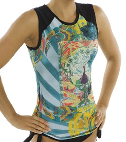 Girls4Sport Zen Garden Sleeveless Rashguard Top