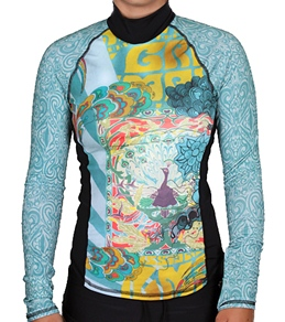 Girls4Sport Zen Garden L/S Rashguard With Shelf Bra