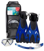 Speedo Hyperfluid Mask, Snorkel, and Fin Snorkeling Set