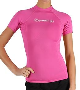 O'Neill Women's Basic Skins S/S Crew Rashguard
