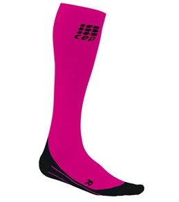 CEP Women's Pink Running O2 Compression Sock