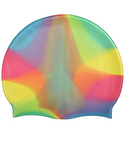 Waterpro Rainbow Silicone Swim Cap
